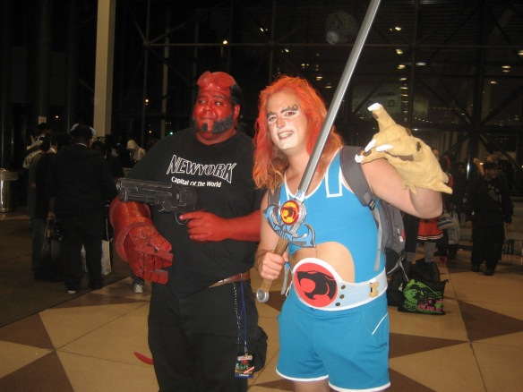 Larry as Lion-O at New York Comic-Con NYCC Hellboy